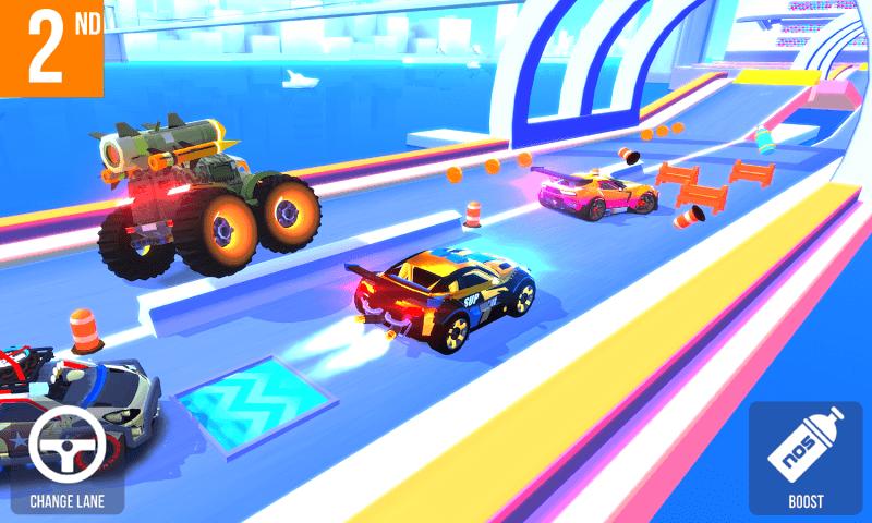 تحميل لعبة sup multiplayer racing مهكرة